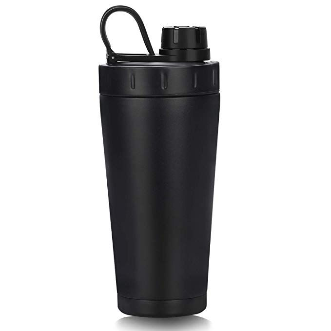 Homiguar Insulated Water Bottle Vacuum Double Walled Protein Shaker Bottle Stainless Steel Shaker Cup Scr Protein Shaker Bottle Shaker Bottle Protein Shaker