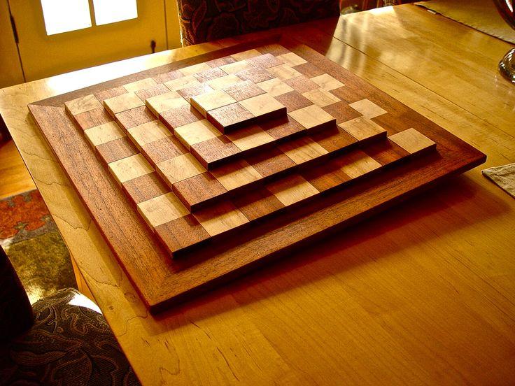 3D Chessboard - Koa and Maple