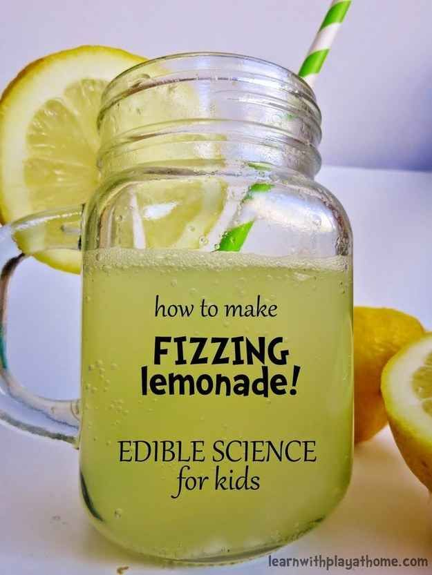 Refresh with fizzing lemonade science exp. you can eat...