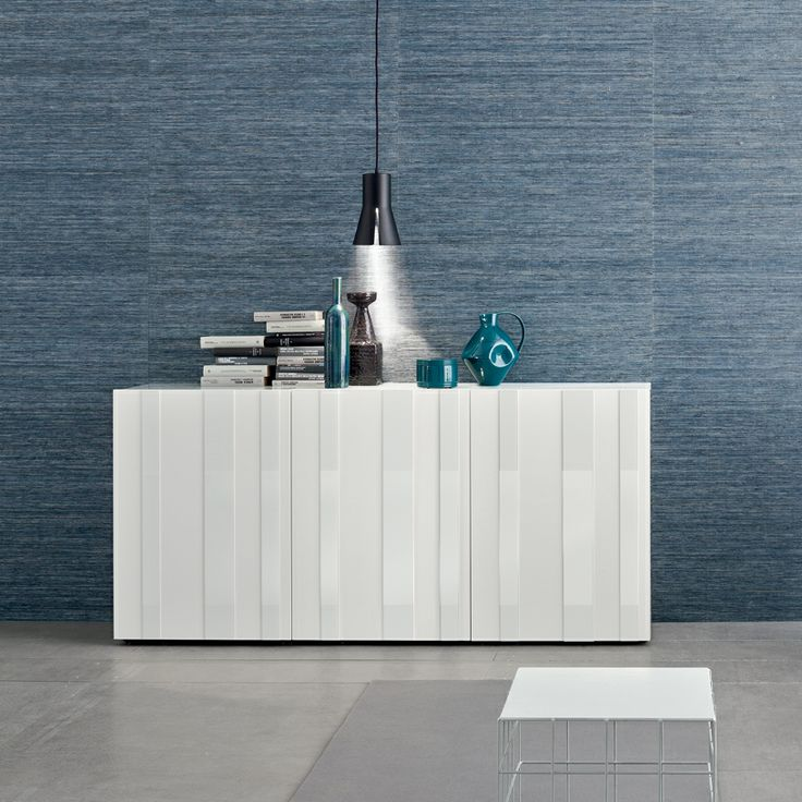 Flow Modern Glass & Lacquer Sideboard - a mix of glass panels and lacquer for a textured feel