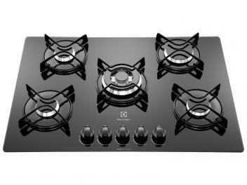 Cooktop 5 Bocas Electrolux GC75V à Gás - Tripla-Chama Acendimento Superautomático  R$ 769,00 em até 8x de R$ 96,13 sem juros no cartão de crédito