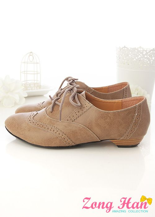 ♥♥ Boyfriend Style Oxfords Flats Womens Shoes Brown | eBay
