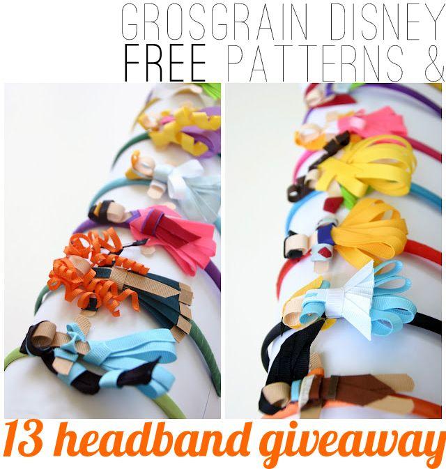 Grosgrain: Disney Princess Inspired Ribbon Sculpture Patterns!    SO COOL!