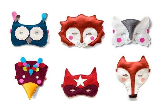 máscaras de filtro para niños! / felt masks for the kids!