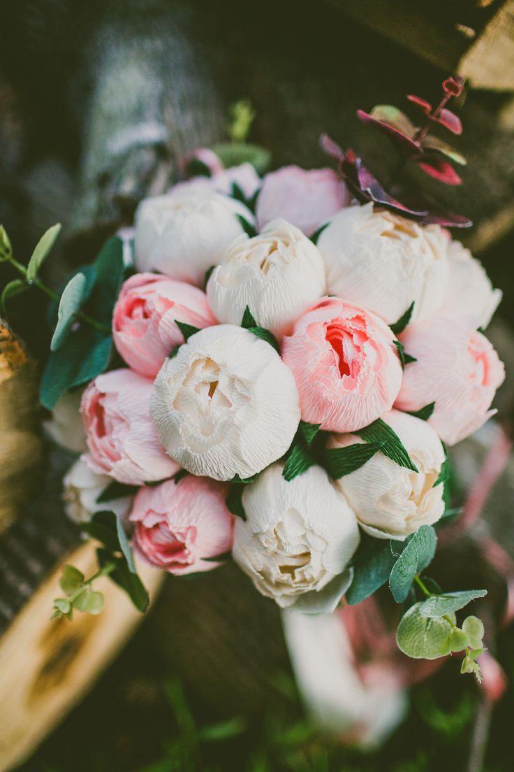 Blush and White Peony Bouquet   Carolyn Scott Photography   Theknot.com