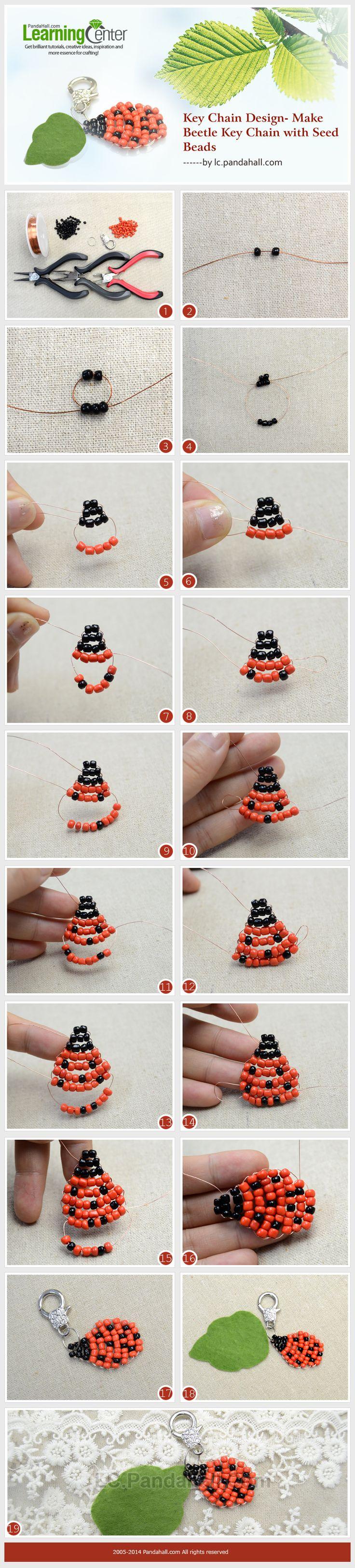 Key Chain Design- Make Beetle Key Chain with Seed Beads