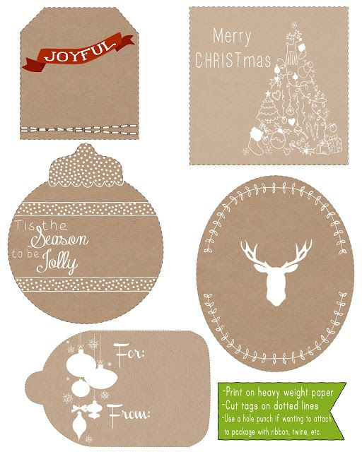 ALL WRAPPED UP Christmas tags