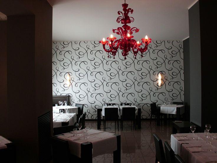 #Red Lamp by #seleneilluminazione #restaurant #red
