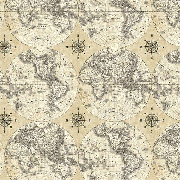 Mejores 43 imgenes de fabrics en pinterest patrones de tela agua windham fabrics world maps multi world maps gumiabroncs Images