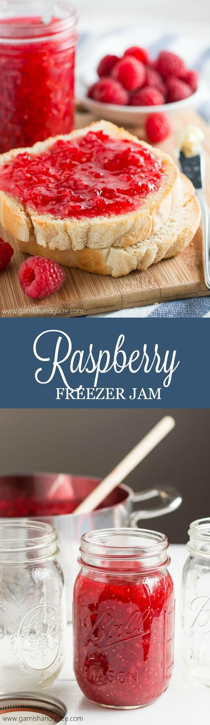 Always have delicious homemade jam on hand with this simple Raspberry Freezer…
