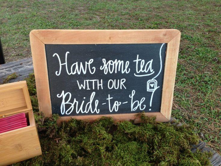 Bridal shower // tea party style shoot chalkboard by Lauren Heim Weddings.
