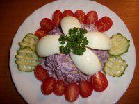 Hanácký salát s vejci