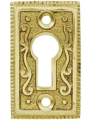 Solid Brass Ornate Keyhole Cover | House of Antique Hardware