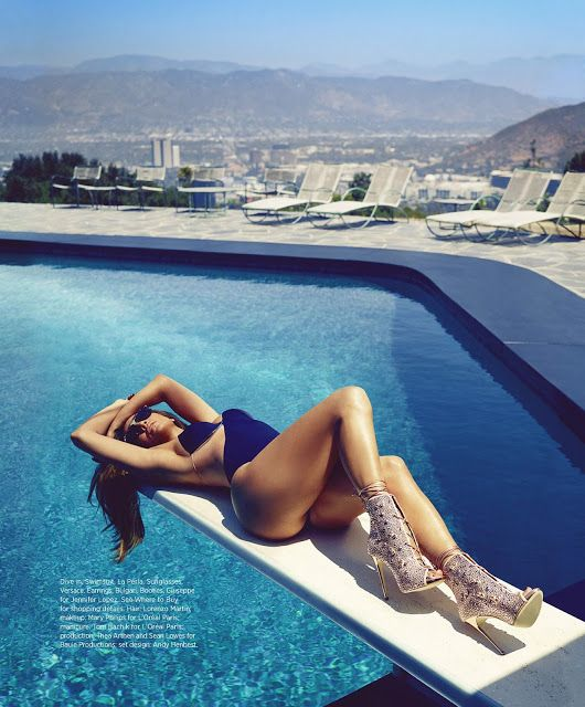 Jennifer Lopez sizzles in a swimsuit for Harper's Bazaar