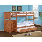 Found it at Wayfair - Ranch Twin Standard Bunk Bed with Trundle Bed and Stairway
