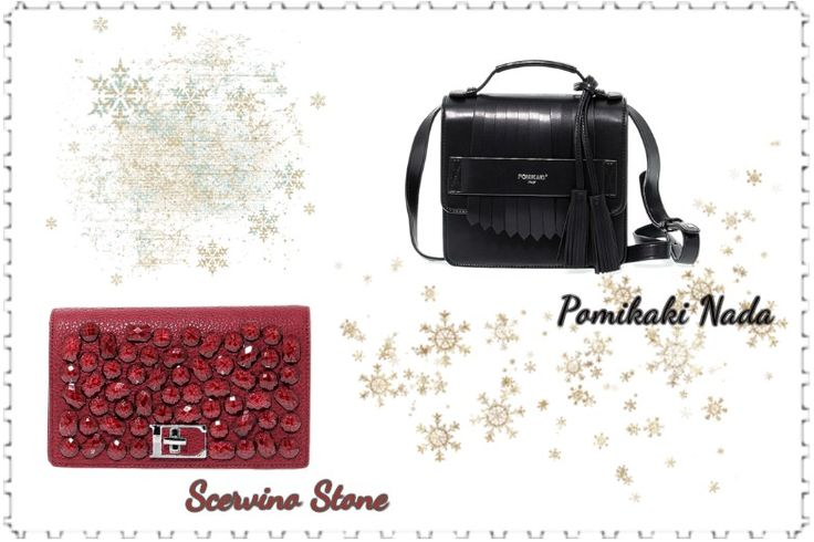 #Pomikaki Nada, black Faux leather's hand/shoulder bag  Price: 138,00€   #ErmannoScervino Stone Collection, red faux leather's hand/shoulder bag  Price: 179,00€