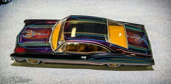 Model car with great lowrider paint work.