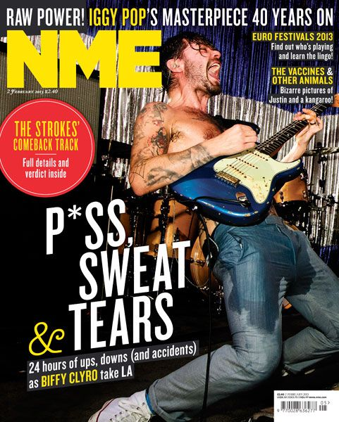 NME Magazine cover, Biffy Clyro, February 2nd 2013