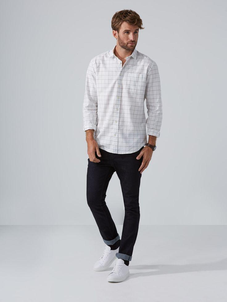 Soft Windowpane-Check Shirt in Almond   Frank And Oak