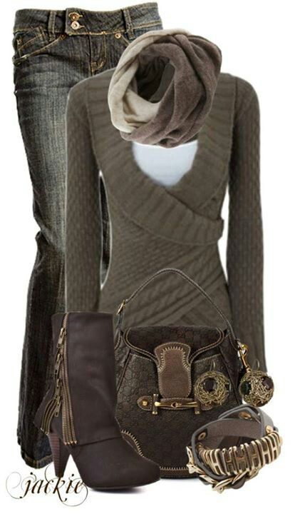 I love this outfit, but I don't think the sweater style would look good on me.