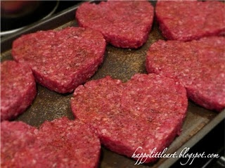 Heart Burgers for Valentines Dinner!!