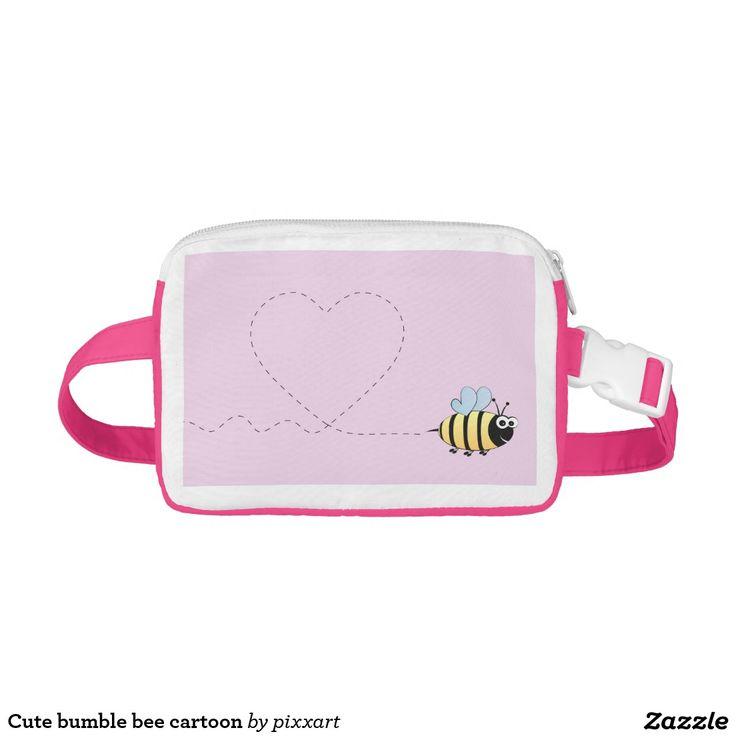 Cute bumble bee cartoon fanny pack