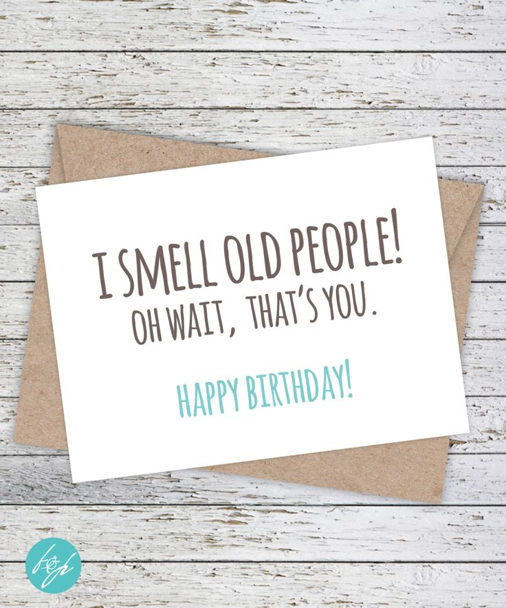 Funny Birthday Card by FlairandPaper on Etsy