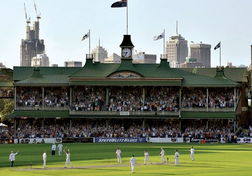 Steve Waugh's last ball of the day century v England at the SCG
