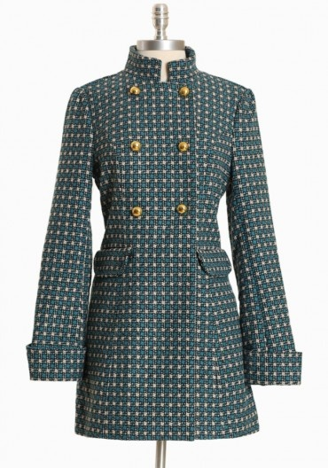This coat makes me want to throw on some ice skates while listening to Bing Crosby.