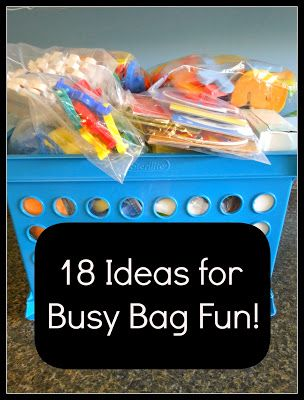 18 ideas for busy bags