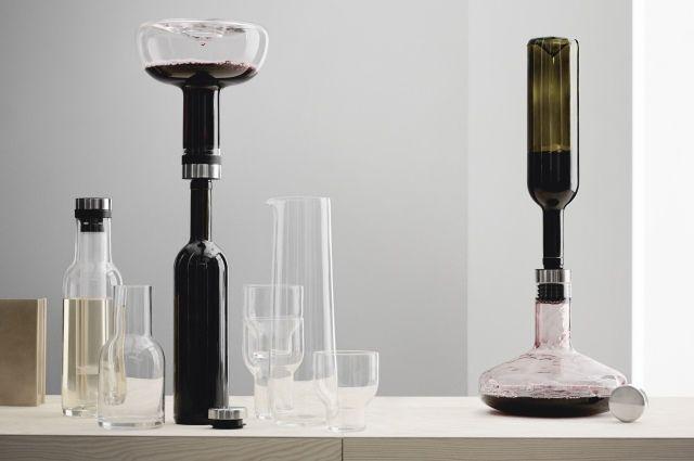 Flaschenkühler, Weinthermometer, Aufsätze, Flaschenöffner und Dekantierkaraffen von Menu Design #wein #flaschenkühler #menudesign