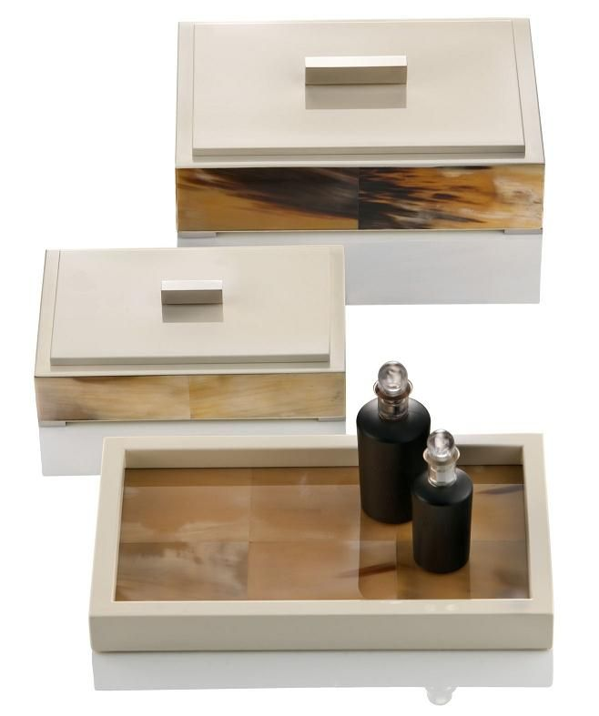 LUXE Italian Designer Ivory & Horn Dressing Table Boxes & Perfume Tray Enjoy & Be Inspired More Beautiful Hollywood Interior Design Inspirations To Repin & Share @ InStyle-Decor.com Beverly Hills Happy Pinning
