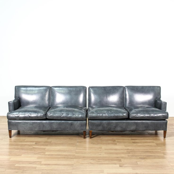 2 Piece Vinyl Sectional Sofa | Loveseat Vintage Furniture San Diego U0026 Los  Angeles Part 96