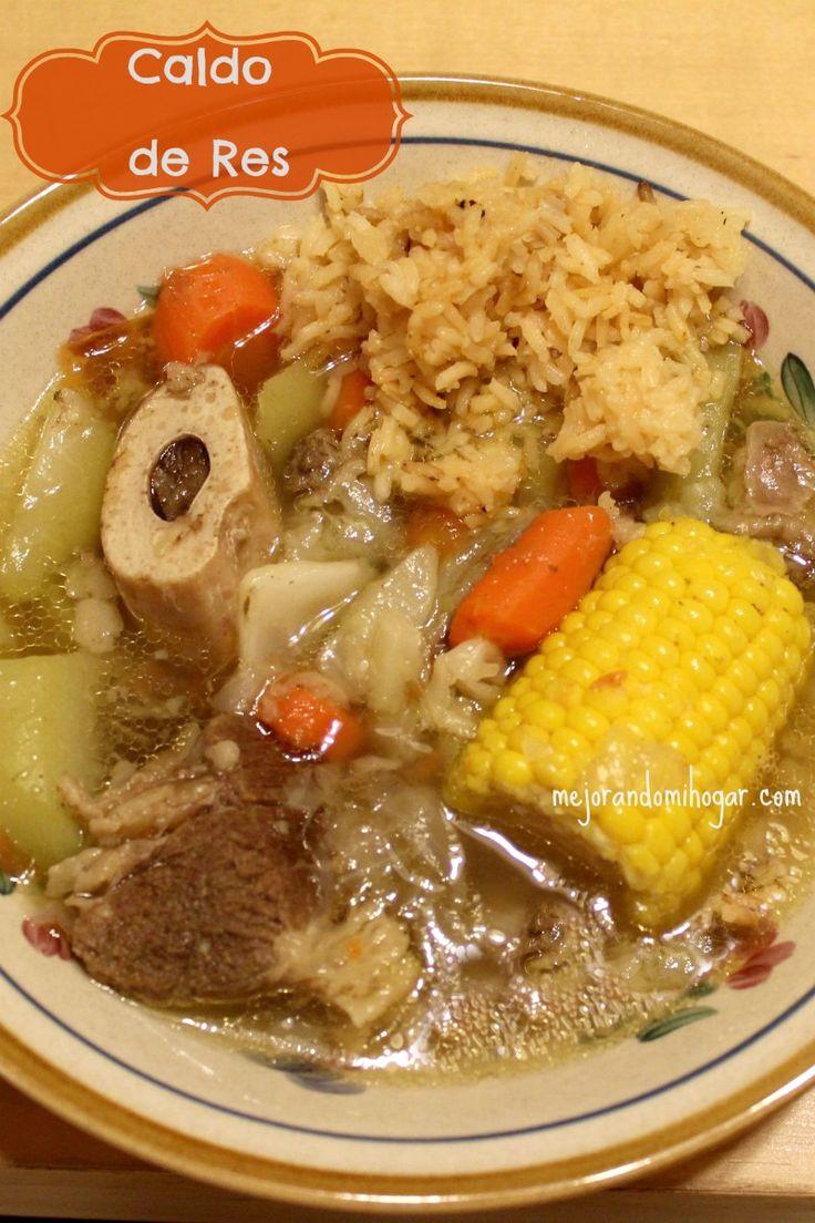 Caldo de Res Receta, también se le llama Puchero de Res, es fácil de preparar solo se lleva un poco de tiempo en cocinar la carne.