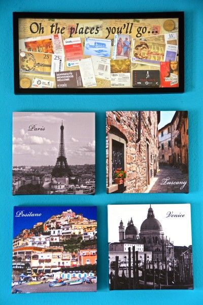 Make a DIY shadow box with your travel souvenirs! Crafts for the non-crafty.