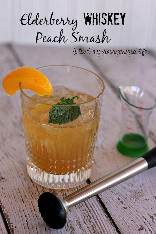Elderberry Whiskey Peach Smash