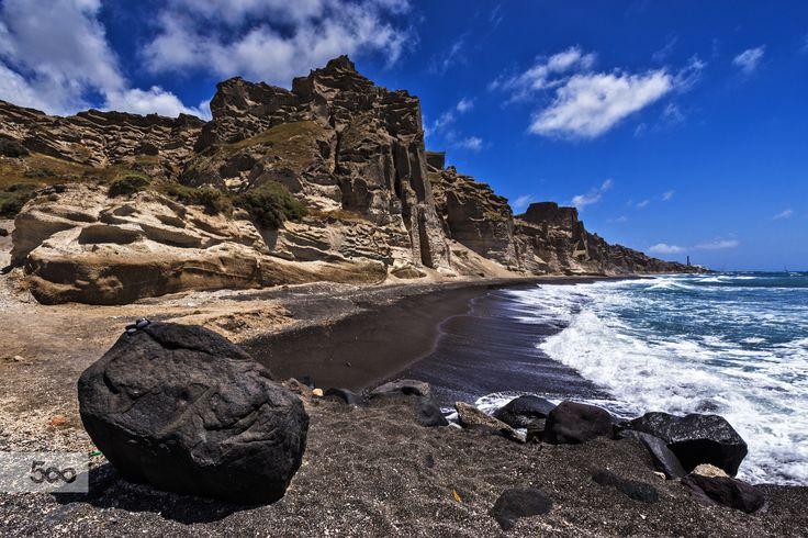 Santorini, Vlichada Beach by Nikolaos Mitkanis on 500px