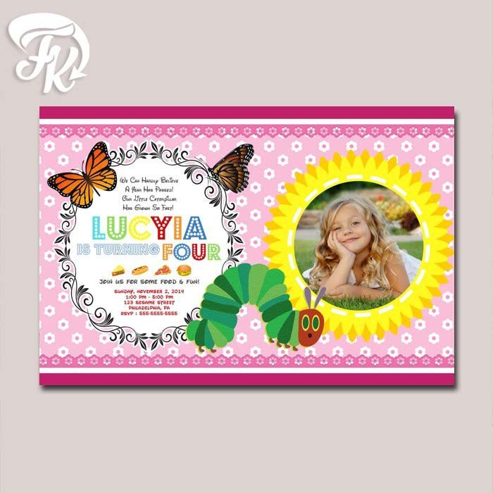 549 best birthday invitation card images on pinterest digital caterpillar pink baby birthday card party digital invitation kid birthday party filmwisefo Image collections
