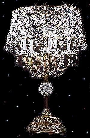 Crystal Table Lamp For Home Interiors