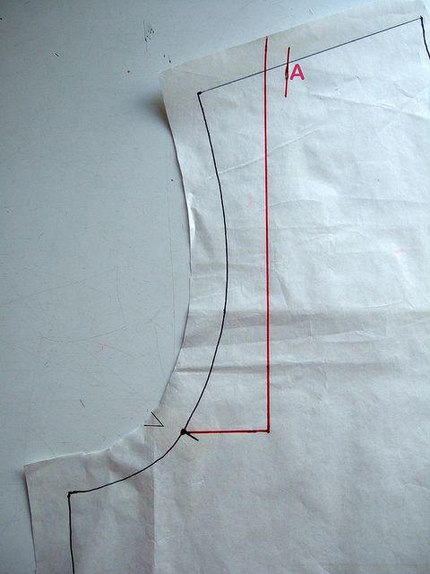Diminuer - raccourcir longueur d'épaule, sans modification de la tête de manche - épaules étroites