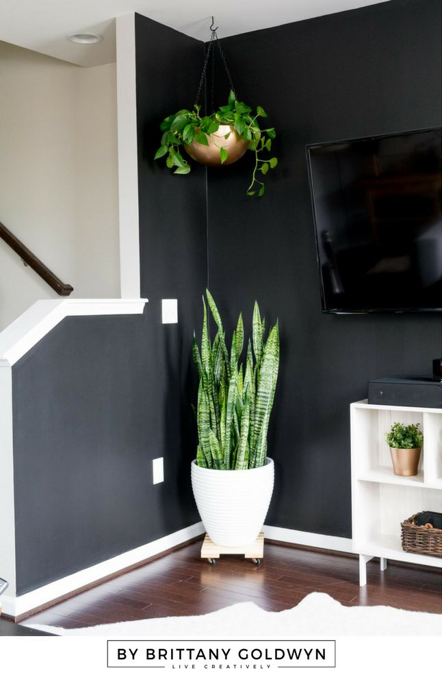 Ikea hack alert: Learn how to make a hanging planter out of an Ikea Blanda Blank stainless steel bowl and a little paint!