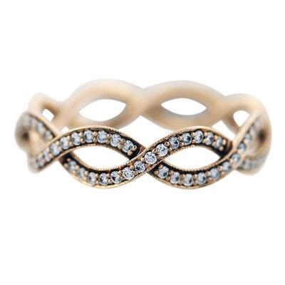Tiffany and Co Rose Gold Diamond Infinity Ring   eBay