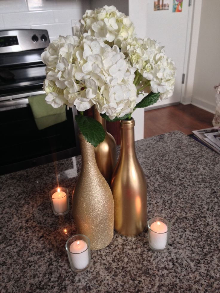 Wine Bottle Centerpiece Mock-Up Complete! - Weddingbee                                                                                                                                                     More