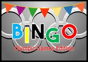 Celebrate the Summer Olympics in Rio with this fun bingo game. There are enough cards for the whole class. 30 bingo Cards Included. I have played this game with my own class this week and they loved it.Instructions have been included if you are not sure how to play.