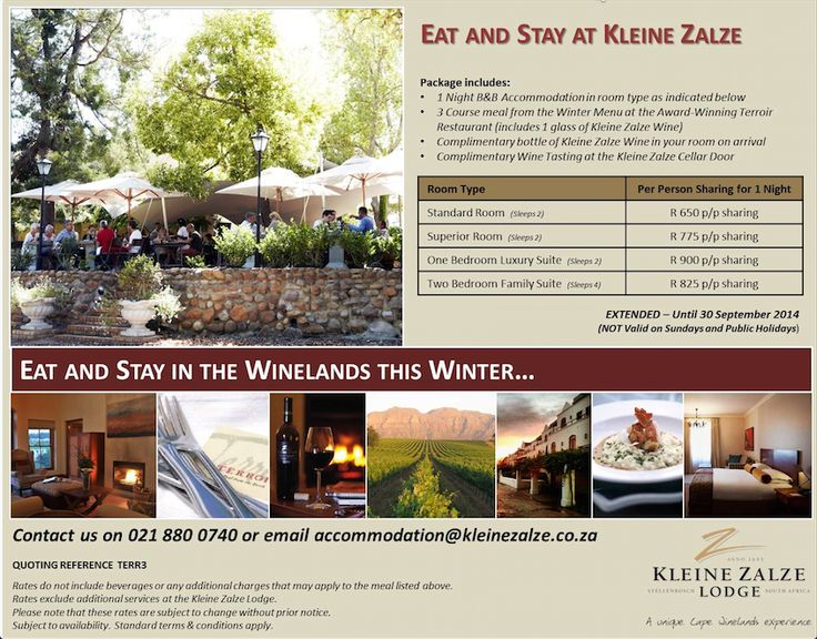 Our Eat & Stay Winter Special has been extended until the end of September 2014! Make sure you book today!