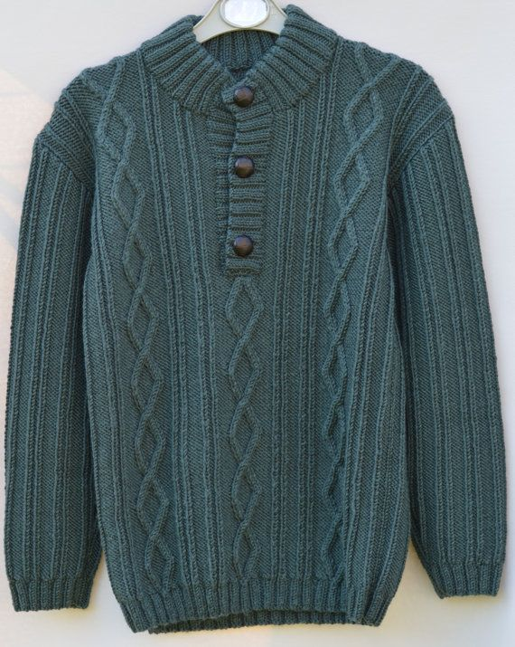 Boys Sweaters Hand Knit Sweater Cashmere Jumper  by CJsHandknits