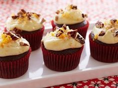 Bobby's Red Velvet Cupcakes from CookingChannelTV.com-from not my mama's meals, by Bobby Deen. Love this show!