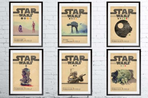 A3 or A4 Size * STAR WARS Alternative Movie Posters * Minimal Vintage Wall Art in Art, Posters, Contemporary (1980-Now) | eBay