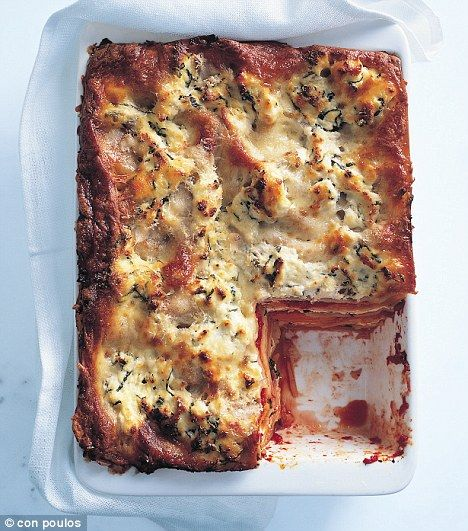 Donna Hay pumpkin, tomato & basil lasagna  This is incredibly morish and can be easily frozen.