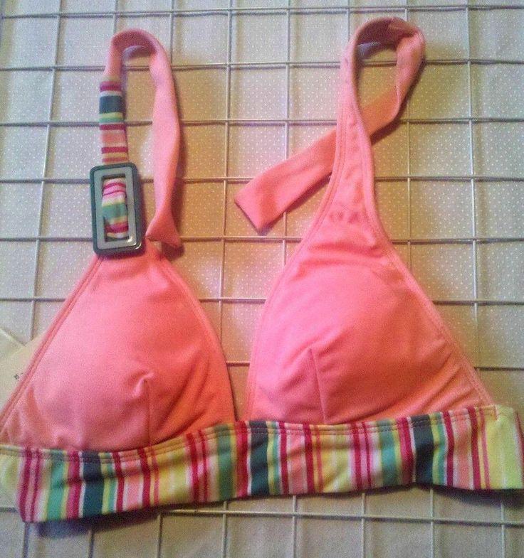 Striped JLO BIKINI Junior Size Pink Very Flattering Style Two Piece Swimsuit #JLOSwimwear #JuniorSMLBikiniwTieWaistHighCutLegs